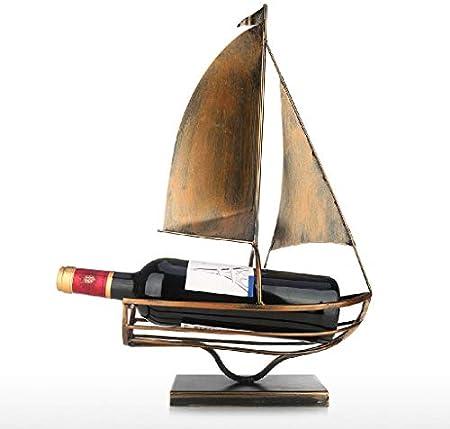 Aiglen Soporte para Botella de Vino de Vela, Arte de Hierro, Estante para Vino Creativo Europeo, Soporte para Almacenamiento de Botellas clásico, decoración práctica