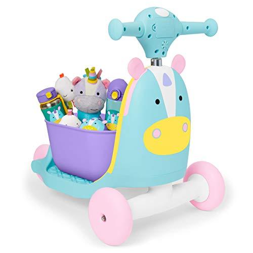 410w7CzESjL - Skip Hop Kids 3-in-1 Ride On Scooter and Wagon Toy, Unicorn