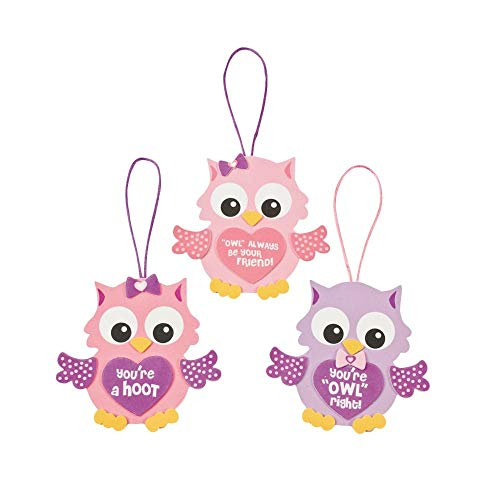 Valentine Owl Ornament Craft Kit - Crafts for Kids & Ornament Crafts (Original - Foam Valentine Crafts