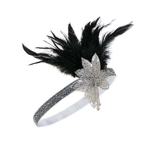 - Metme Women's Satin Charleston Headpiece Hair Accessories 20S Flapper Headband