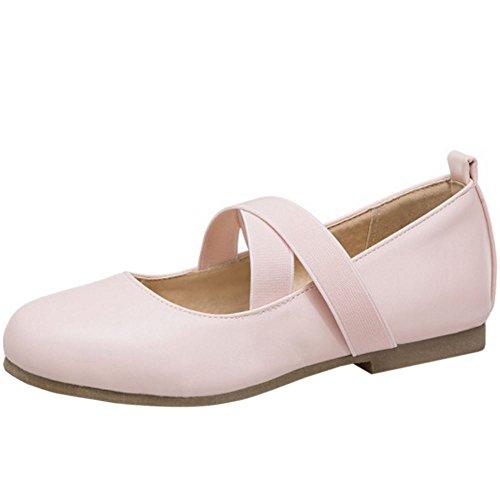 Melady Elastic Mujer Strap 2 Pumps pink Comodo Flat RrAnwfr8