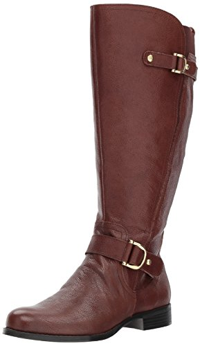 Naturalizer Women's Jenelle WC Riding Boot, Bridal Brown, 8.5 2W US by Naturalizer