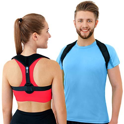 Back Posture Corrector for Men & Women by Bovize, Effective Corrector for Back Pain & Neck Pain Relief, Adjustable Posture Brace Belt Support