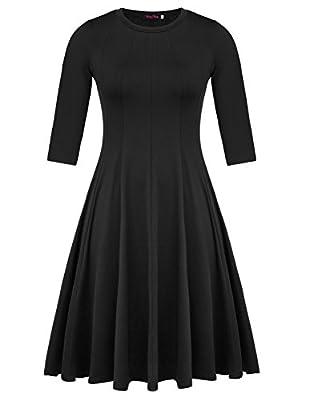 Hanna Nikole Women's Plus Size 3/4 Flowy Maxi Dress HNAF0001