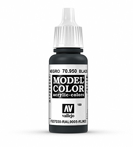 Vallejo Black Model Color Paint, 17ml