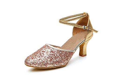 scarpe latino da Scarpe con quadrato da ballo scarpe moderne altezza cm da scarpe 5 UK5 ballo morbido CN38 5 con da alto ballo ballo EU38 scarpe da tacco ShangYi fondo donna dYtqvdw