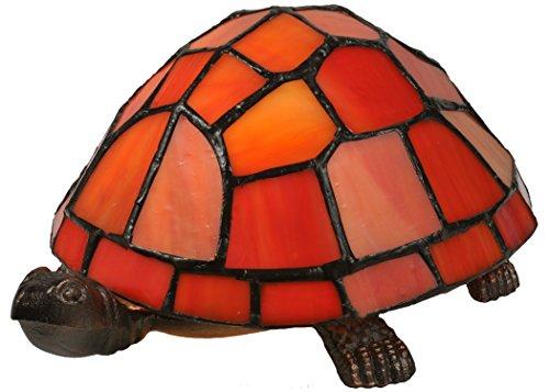Meyda Tiffany 10271 Turtle Tiffany Glass Accent Lamp, 4