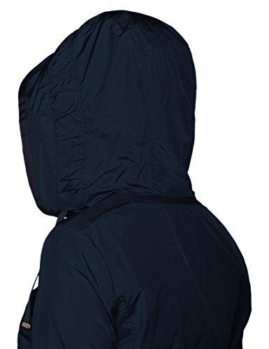 Navy Dark Geox Blouson F4300 Bleu Woman Femme Jacket 16ACq