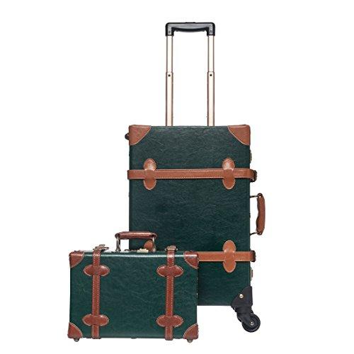 vintage luggage with wheels - 6