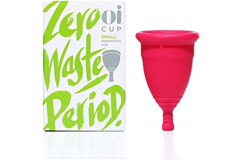 Oi Menstrual Cup - Small - Up to 12 Hour Protection, Eco-Friendly and Recyclable Menstrual Cup Made...