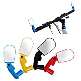 2 PCS MTB Bar End Mountain Bicycle Mirror, 13.75 to 22.5 Inside Diameters Handlebar Rearview Mini Mirrors, Glass Adjustable Rotate Flexible Bike Bicycle Cycling,  Random Color