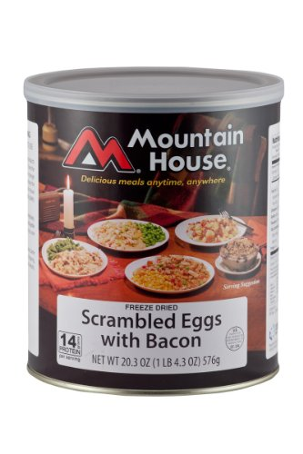 Mountain House #10 Can Precooked Scrambled Eggs w/Bacon (16 2/3 cup servings), Outdoor Stuffs