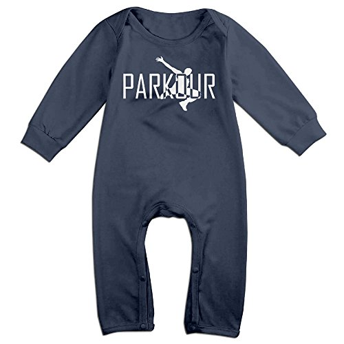 KIDDOS Baby Infant Romper Parkour Art Sports Long Sleeve Jumpsuit Costume,Navy 18 Months - Minecraft Costume Fail