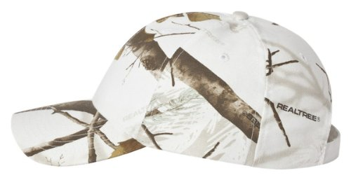 Ikat Kati SN200 Structured Camo Cap Realtree Ap White (Realtree Camo Adjustable Cap)