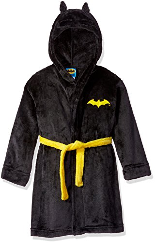 DC Comics Boys Toddler Batman Hooded Robe, Black 3T -