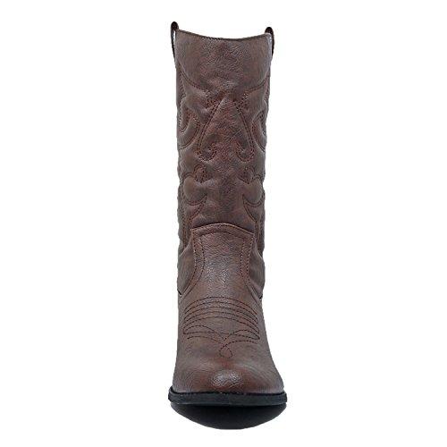 brown West Blvd Miami Boots pu Western Cowboy xU0TSqUP
