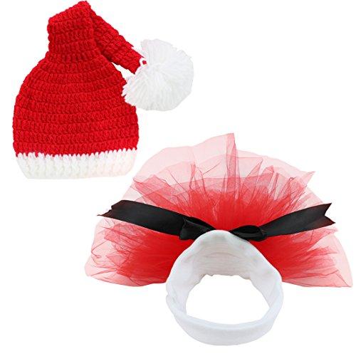 TIAOBU Girls Christmas Crochet Costume