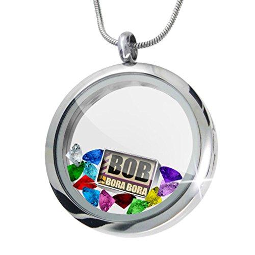 Airportcode BOB Bora Bora + 12 Crystals + Charm, Neonblond (Bora Crystal)
