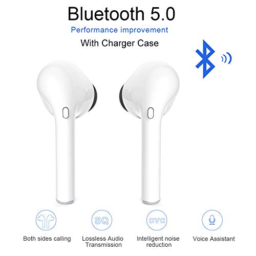 True Wireless Earbuds Bluetooth Earbuds 5.0 Bluetooth Headset Sports in-Ear Earbuds TWS 3D Stereo Earphones IPX5 Waterproof Earbuds with Charging Case (Present Perfect Simple And Present Perfect Continuous Exercises)
