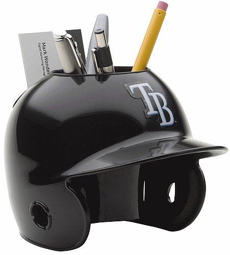 Tampa Bay Rays Miniature Batters Helmet Desk Caddy   Licensed MLB  Memorabilia   Tampa Bay Rays