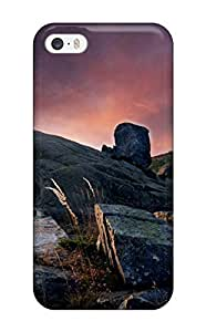 For ZippyDoritEduard Iphone Protective Case, High Quality For Case Iphone 6 4.7inch Cover Rocks And Clouds Cloudy Sunset Pale Light Big Nature Other Skin