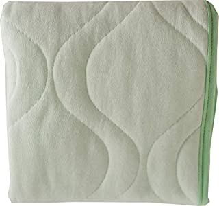 product image for SheetWorld Crib Bib Sheet Saver, Soft Cotton, 4 Secure Ties, Solid Mint, Made in USA