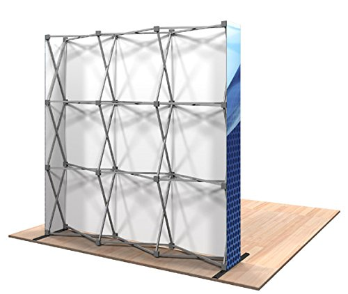 Straight 8-Feet Pop Up Display Trade Show, Exhibit Backdrop Booth,Portable Display Banner Includes Carrying Bag
