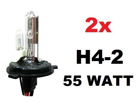 Kit FARI Xenon LAMPADE H4-2 ANABBAGLIANTE Xenon ABBAGLIANTE ALOGENA 6000K 55 Watt Adatto CENTRALINE Slim per Auto Moto Nuovo