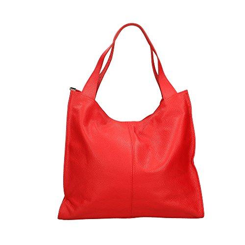 Véritable 34x31x10 Fabriqué Sac Rouge Pour Italie En Bandoulière Aren À Femme Cuir Cm xSwRTfOq0