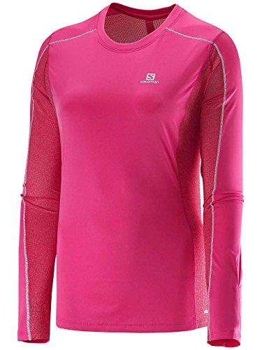 Salomon - SALOMON - T Shirt Femme - Agile LS Tee W Rose - tailles: M