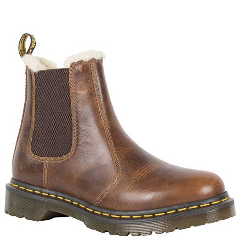 Dr. Martens Women's 2976 LEONORE Chelsea Boot, Butterscotch, 6 M UK (8 US)