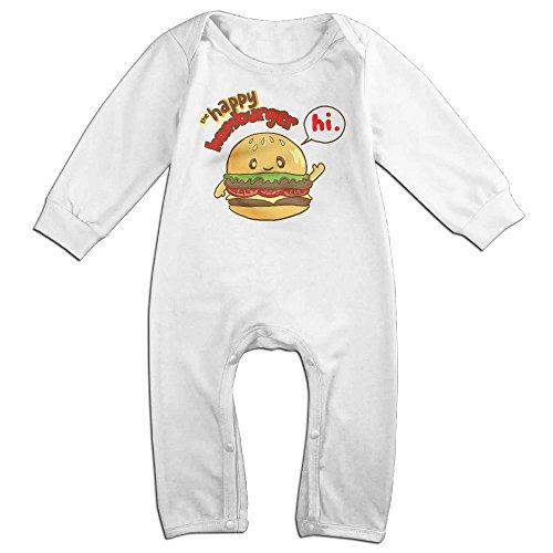 Disney Mascot Costumes For Sale (Haru Happy Hanburger Newborn Babys Long Sleeve Bodysuit Baby Onesie White 6 M)