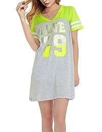 Sleep Dress for Women Sleeping Shirt Nightshirt X-Small