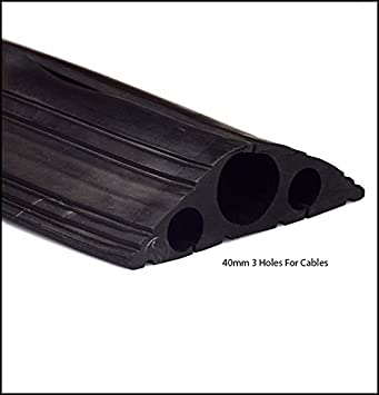 mm 20 TR-Tools Cable Protector Black Rubber Floor Cover -1m 3 metre