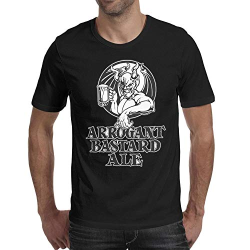 Adult Round Collar Graphic top Men Arrogant-Bastard-Ale-from-Stone-Brewing-Co.-Beer- t Shirt