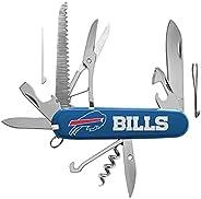 NFL Classic Pocket Multi Tool - 15-Piece Stainless Steel Multi Purpose Tool Set - Foldable, Portable, Emergenc