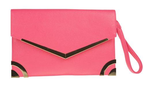 Girly Handbags - Cartera de mano para mujer - fucsia