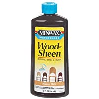 Minwax 30414 12-Ounce Water Based WoodSheen Wood Stain, Manor Oak by Minwax