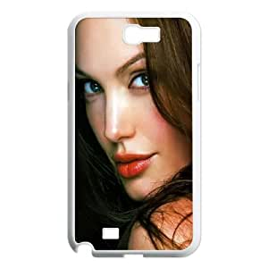Angelina Jolie Samsung Galaxy N2 7100 Cell Phone Case White rbs