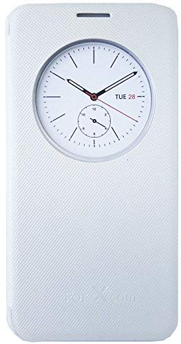 promo code da725 50fc3 Marshland Quick View Window Superior Finish Leather Flip Cover for LG X Cam  (White)