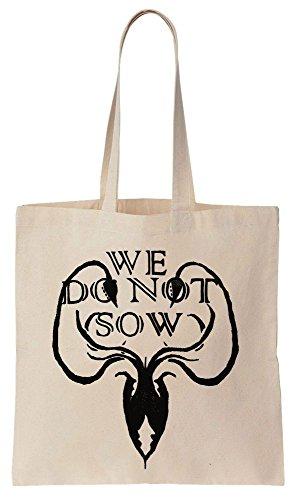 House Greyjoy We Do Not Sow Ironborn Sacchetto di cotone tela di canapa