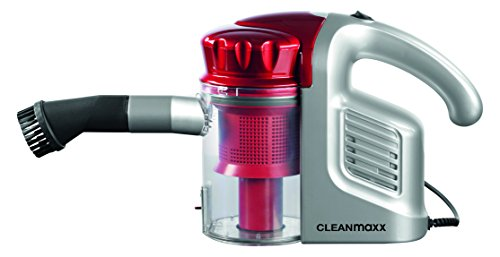 CLEANmaxx Bagless Cyclone Handheld Vacuum Cleaner Multi Sensation with 700 ml Dust container, 600 Watts, Red