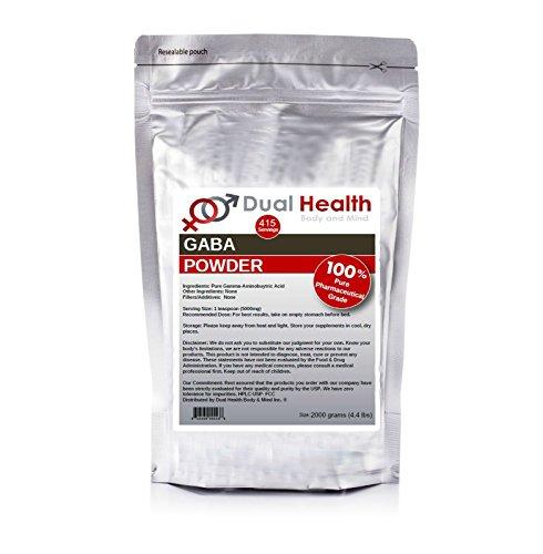 Pure GABA (1 kilogram (2.2 lbs)) Gamma Aminobutyric Acid Powder Bulk Supplements