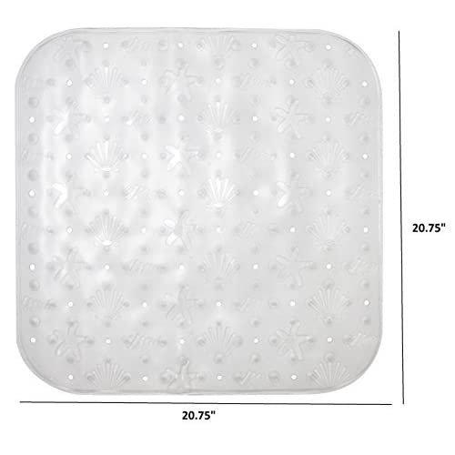 high-quality LDR 169 1065CL Exquisite Shower Stall Mat, Bubble Print, 20-3/4 x 20-3/4-Inch, Clear