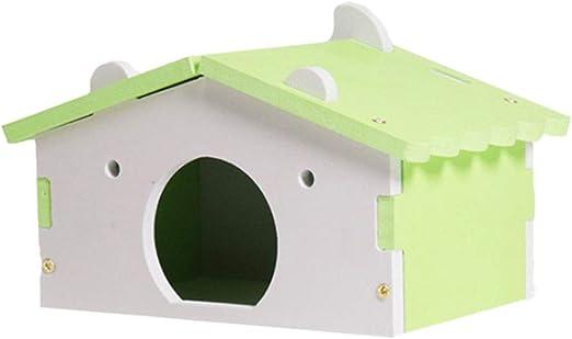 Jaula de madera para dormir para hámster, ratón, ratón, ratón, rata nido, adorable hámster para mascotas, ratones, ardillas, casita de dormir, juguete para decoración de jaulas: Amazon.es: Hogar