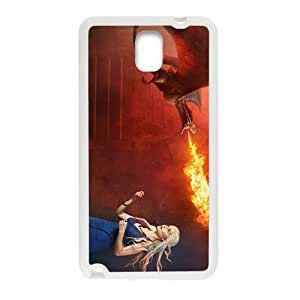 Personality customization Flame of dinosaur and lovely girl Cell Phone Case for Samsung Galaxy Note3 BY PLUS6A case