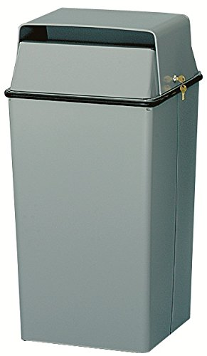 Commercial Confidential Document Container - Witt Industries 008LSL Confidential Waste Receptacle, Steel, 36 gal, Slate