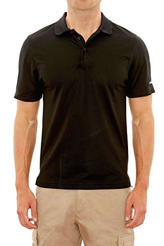 Beverly Hills Polo Club Men's Athletic Performance Sport Polo, Black, Small'