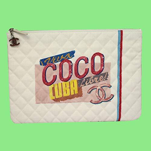 CHANEL CUBA CANVAS CLUTCH BAG A82603 POUCH