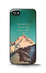 Custom iPhone Case - Mountain Is Calling For Apple iPhone 5/5s Hard Back Cover Case
